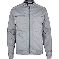 Grey casual bomber jacket