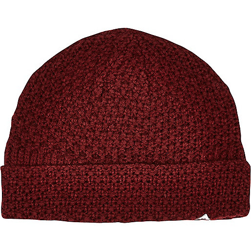 Dark red Bellfield beanie hat