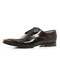 Dark brown patent Oliver Sweeney formal shoes