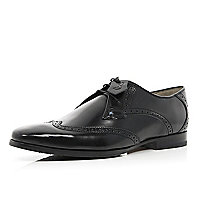 Black patent Oliver Sweeney wingtip brogues