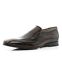 Brown patent Oliver Sweeney slip on shoes