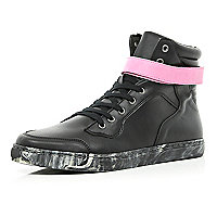 Black Joseph Turvey print sole high tops