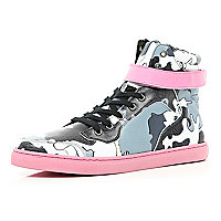 Black Joseph Turvey camo print high tops