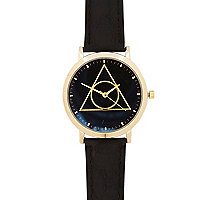 Black triangle detail watch