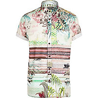 White Holloway Road tropical print shirt