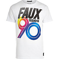 White Friend or Faux marathon print t-shirt