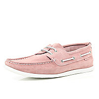 Light pink boat shoes