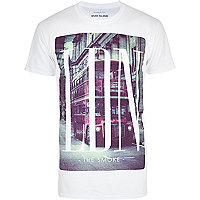 White LDN bus print t-shirt
