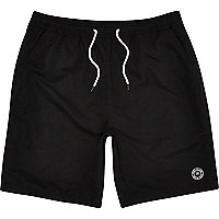 Black mid length swim shorts