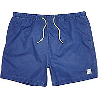 Navy neon cord short swim shorts