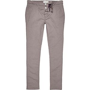 Grey skinny chino pants