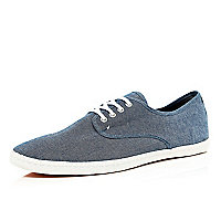 Navy canvas plimsolls