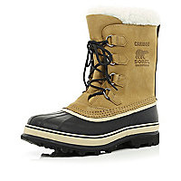 Brown Sorel Caribou waterproof boots