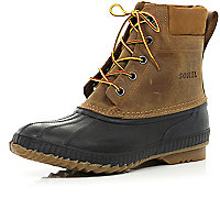 Brown Sorel Cheyanne waterproof boots