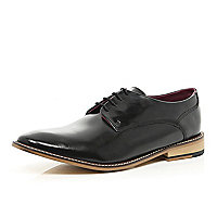 Black high shine formal shoes