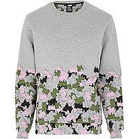 Grey Joseph Turvey camo print sweatshirt