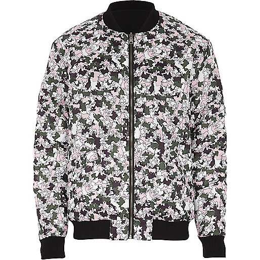 Black Joseph Turvey reversible bomber jacket