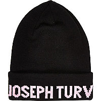 Black Joseph Turvey beanie hat