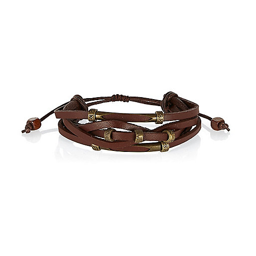 Brown Medley leather bracelets