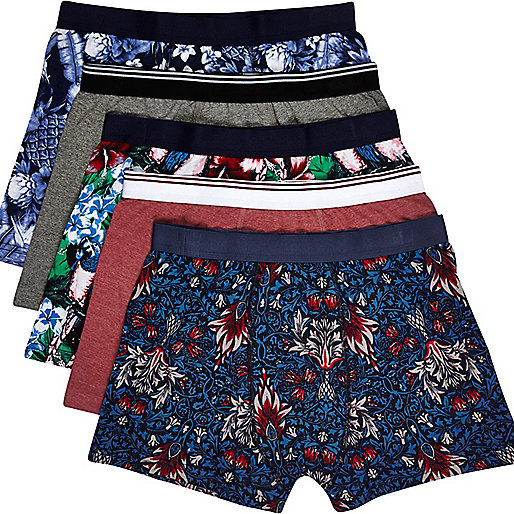 Mixed tropical floral print boxer shorts