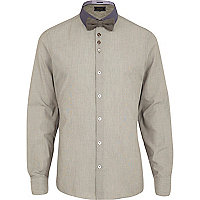 Grey long sleeve shirt bow tie pack