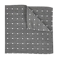 Grey polka dot handkerchief