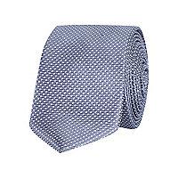 Grey spot print tie