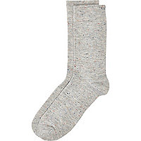 Grey neppy ankle socks