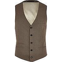 Brown smart waistcoat