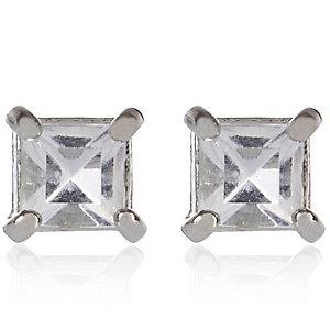 Grey gemstone stud earrings