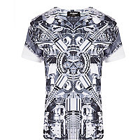 Grey Jaded London metal print t-shirt