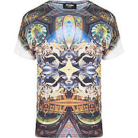 Black Jaded London renaissance print t-shirt