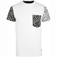 White 26 Million colour block t-shirt