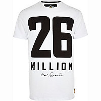 White 26 Million logo print t-shirt