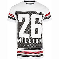 White 26 Million polka dot logo print t-shirt