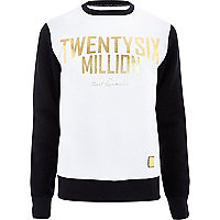 White 26 Million foil print sweatshirt