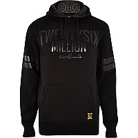 Black 26 Million logo print hoodie