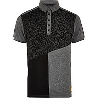 Black 26 Million colour block polo shirt
