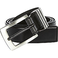 Black triple keeper belt