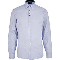 Light blue contrast button Oxford shirt