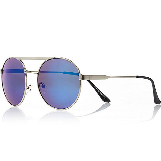 Silver tone Jeepers Peepers round sunglasses