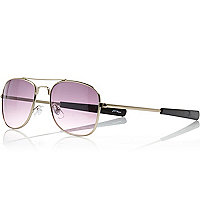 Gold tone Jeepers Peepers aviator sunglasses