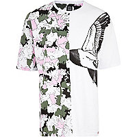 White Joseph Turvey camo duck print t-shirt