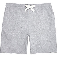 Grey marl jersey shorts
