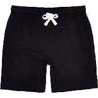 Black jersey shorts