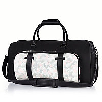 Black Joseph Turvey camo pocket holdall