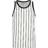 Black and white baseball stripe vest