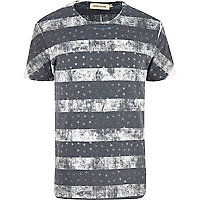 Grey stars and stripes print t-shirt