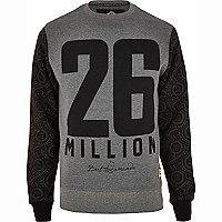 Grey 26 Million logo print sweatshirt