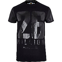Black 26 Million high shine print t-shirt